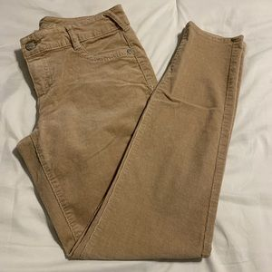 Maurices khaki color skinny corduroy pants.  Sz XL